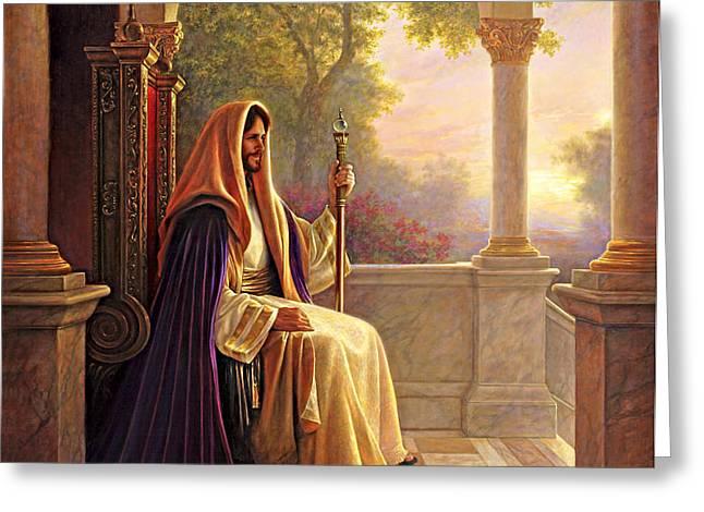 King of Kings Greeting Card by Greg Olsen