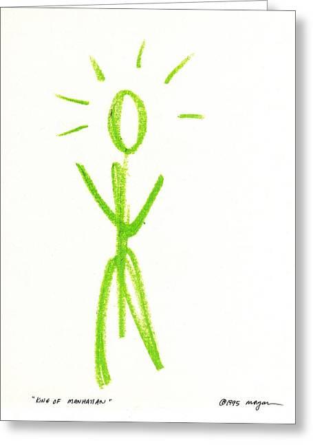 Illuminate Pastels Greeting Cards - King of Manhattan Greeting Card by Patrick Morgan