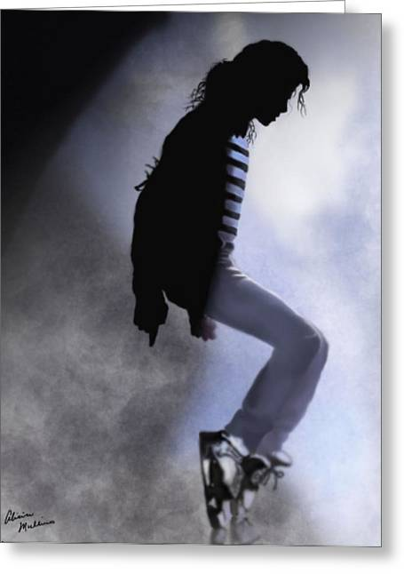 Mj Digital Art Greeting Cards - King of Pop Greeting Card by Alicia Mullins