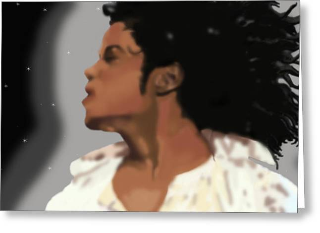 King Of Pop King of The Universe Greeting Card by Diva Jackson