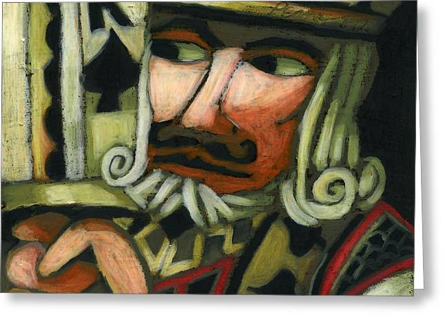 Playing Cards Pastels Greeting Cards - King of Spades Greeting Card by Erik Pearson