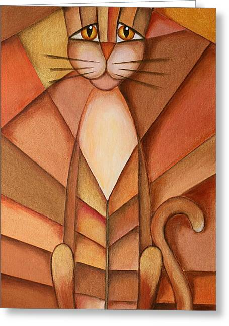 Jutta Maria Pusl Greeting Cards - King of the Cats Greeting Card by Jutta Maria Pusl