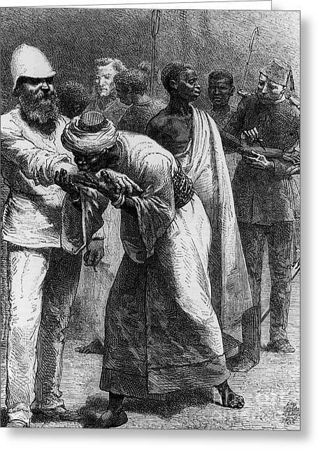 Colonial Man Greeting Cards - King Riouga And Samuel Baker, 1869 Greeting Card by Photo Researchers