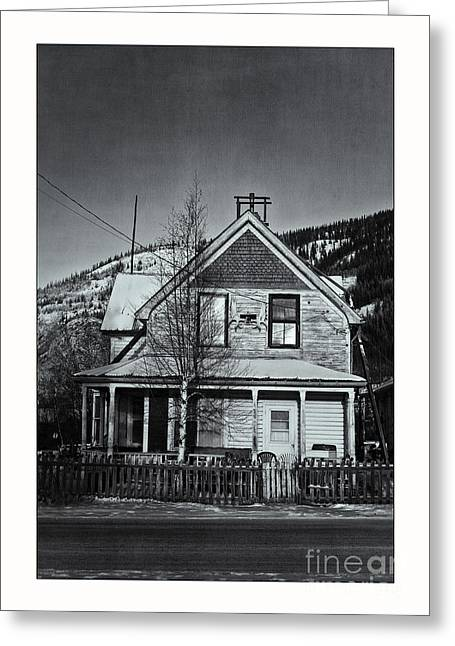 Abandoned House Greeting Cards - King Street Greeting Card by Priska Wettstein