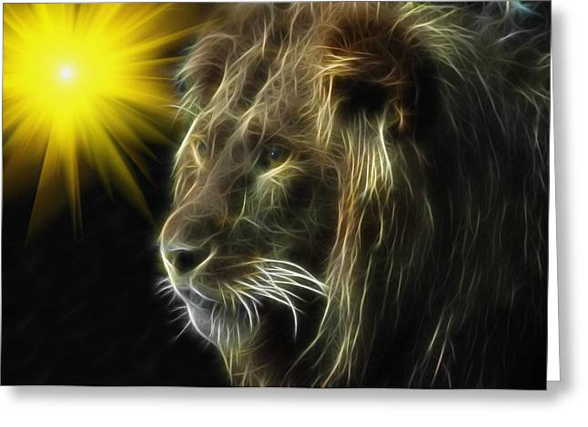 Lioness Greeting Cards - King Greeting Card by Tilly Williams