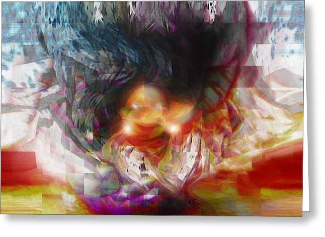Fine Art Digital Art Greeting Cards - King Troll Greeting Card by Linda Sannuti