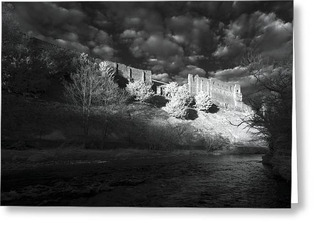 Frightening Castle Greeting Cards - Kings Arthurs Castle Greeting Card by Matt Nuttall