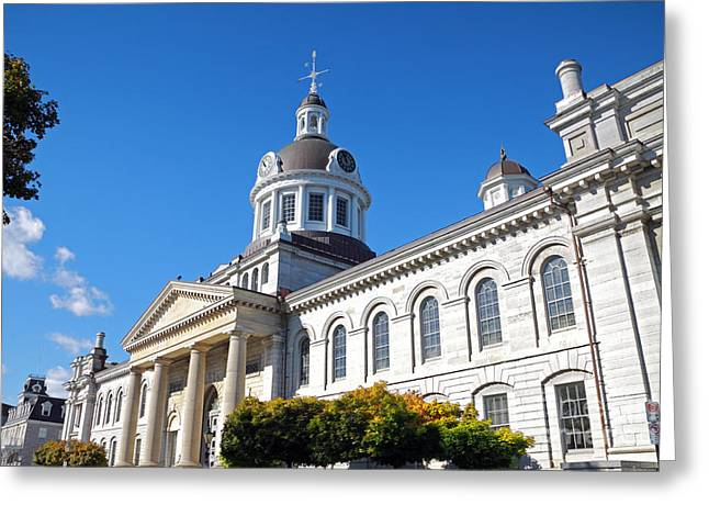 Kingston Greeting Cards - Kingston City Hall Greeting Card by Charline Xia