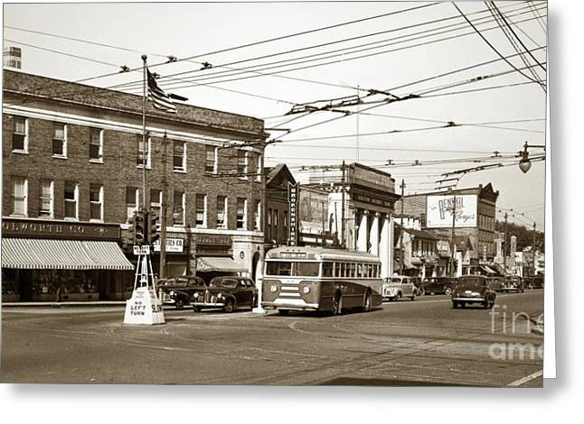 Kingston Greeting Cards - Kingston Corners Kingston PA Early 1950s Greeting Card by Arthur Miller