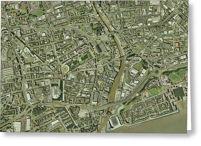 Kingston Greeting Cards - Kingston Upon Hull, Uk Greeting Card by Getmapping Plc