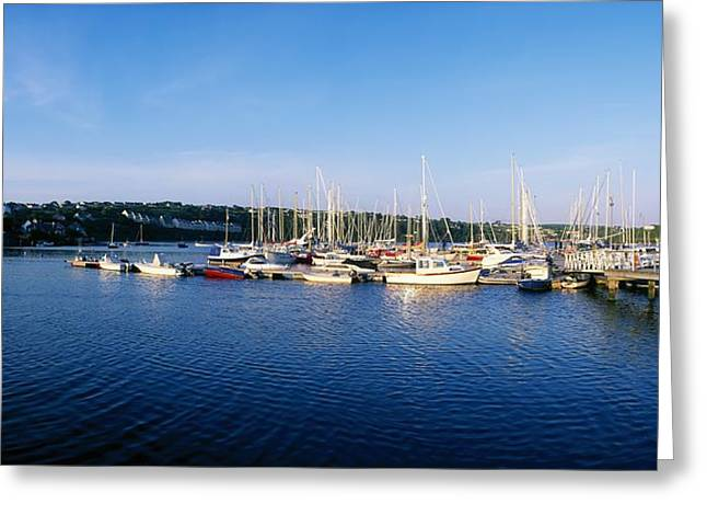 Ocean Panorama Greeting Cards - Kinsale, Co Cork, Ireland Moored Boats Greeting Card by The Irish Image Collection