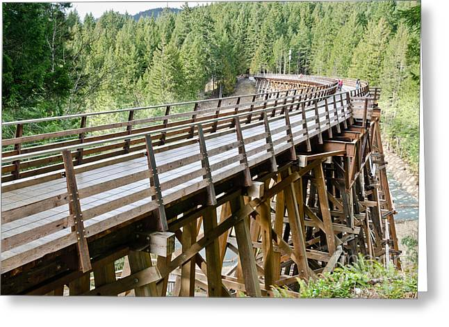 Wooden Photographs Greeting Cards - Kinsol Trestle Greeting Card by Andy Smy
