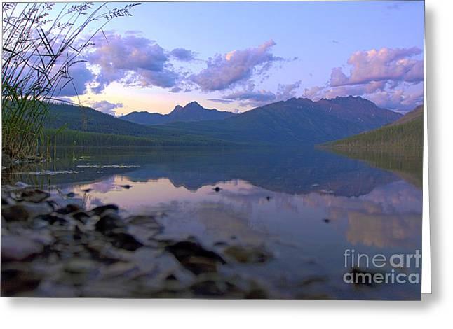 Kintla Lake Greeting Cards - Kintla Lake Komfort Greeting Card by Scotts Scapes