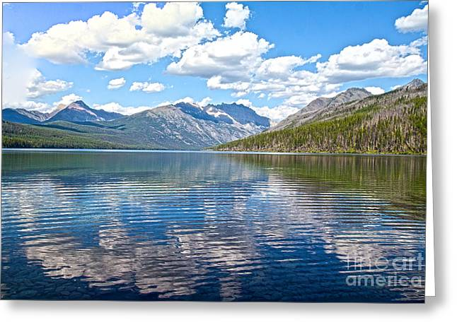 Kintla Lake Greeting Cards - Kintla Ripples HDR Greeting Card by Scotts Scapes