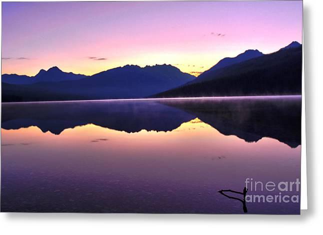Kintla Lake Greeting Cards - Kintla Sunrise Greeting Card by Scotts Scapes