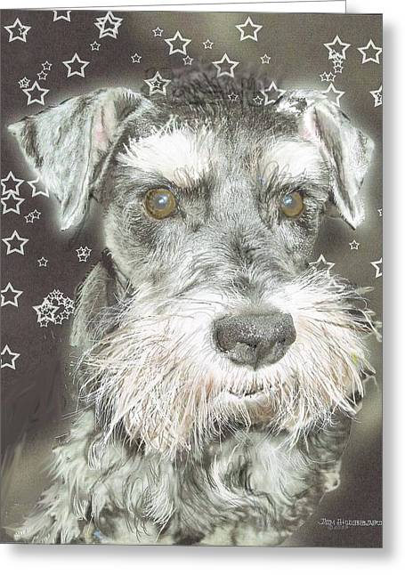 Rescue Drawings Greeting Cards - Kirby -  rescue dog Greeting Card by Jim Hubbard