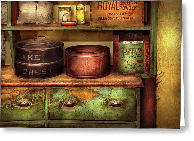 Gifts For A Chef Greeting Cards - Kitchen - Food - The cake chest Greeting Card by Mike Savad