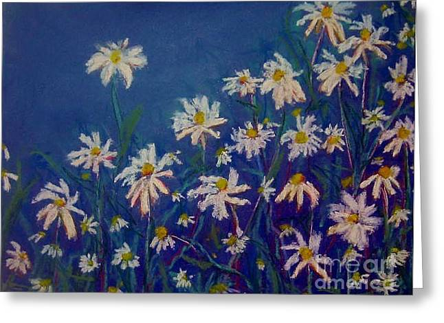 Daisies Pastels Greeting Cards - Kitchen Daisy Greeting Card by Rosemarie Glennon Kliegman