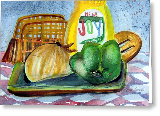 Kitchen Joy Greeting Card by Mindy Newman