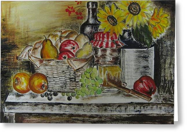 Naturalistic Greeting Cards - Kitchen table Greeting Card by Preeti