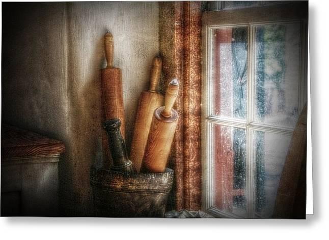 Kitchen Window Greeting Card by Christine Annas