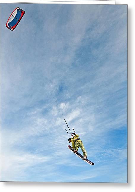 Best Sellers -  - Kite Boarding Greeting Cards - Kite Board Greeting Card by Elijah Weber