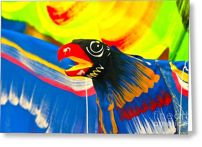 Kite Greeting Card by Charuhas Images