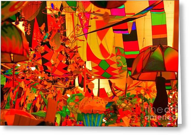 Things Light Greeting Cards - Kite Kafe Greeting Card by Julie Lueders
