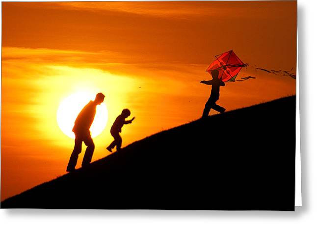 Kite Greeting Card by Okan YILMAZ