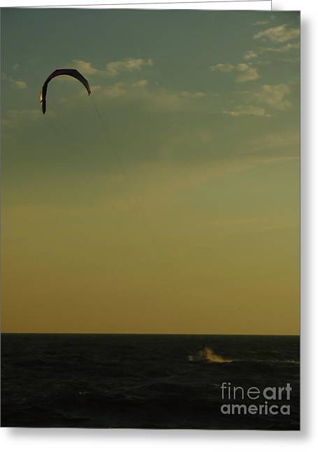 Kite Surfing Greeting Cards - Kite Surfer Greeting Card by Juergen Roth