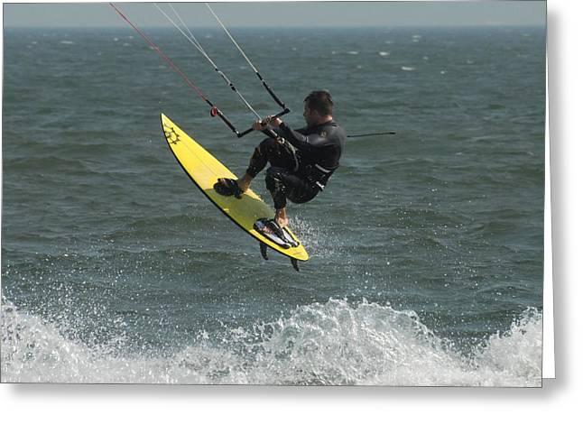 Best Sellers -  - Kite Surfing Greeting Cards - Kite Surfing 2 Greeting Card by Joyce StJames