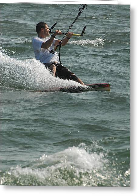 Best Sellers -  - Kite Surfing Greeting Cards - Kite Surfing 3 Greeting Card by Joyce StJames