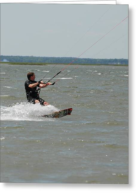 Take Over Greeting Cards - Kite Surfing 32 Greeting Card by Joyce StJames
