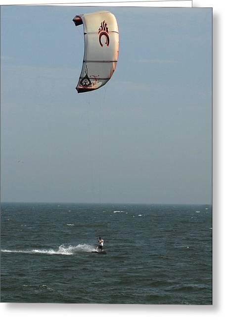 Best Sellers -  - Kite Surfing Greeting Cards - Kite Surfing 5 Greeting Card by Joyce StJames