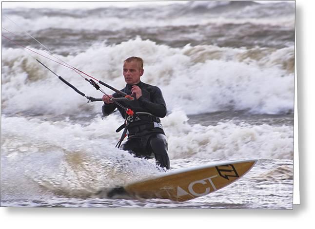 Kite Surfing Greeting Cards - Kite surfing Greeting Card by Wedigo Ferchland