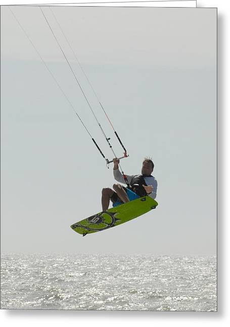 Wind Surfing Print Greeting Cards - Kite Sutfing 43 Greeting Card by Joyce StJames