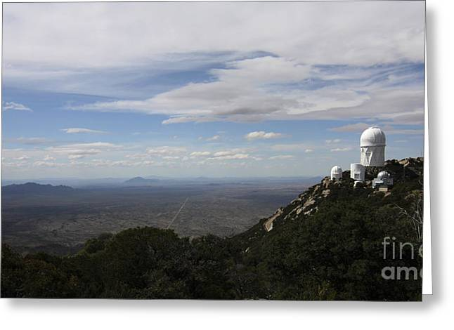Quinlan Greeting Cards - Kitt Peak Observatory Domes Greeting Card by Phillip Jones