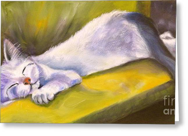 Kitten Dream Greeting Card by Susan A Becker