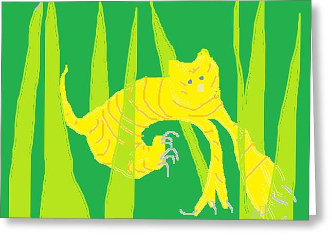 Anita Dale Livaditis Greeting Cards - Kitten in the Grass Greeting Card by Anita Dale Livaditis