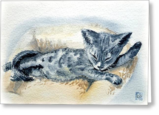 Kitten Greeting Cards - Kitten Greeting Card by Irina Sztukowski