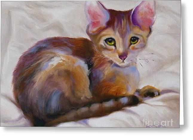 Kitten Drawings Greeting Cards - Kitten Princess Greeting Card by Susan A Becker