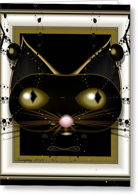 Karlajkitty Digital Art Greeting Cards - Kitty Greeting Card by Karla White