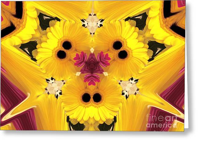 Abstract Digital Photographs Greeting Cards - Kitty Petals Greeting Card by Cheryl Young