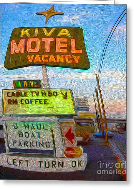 Kiva Motel - Needles Ca Greeting Card by Gregory Dyer