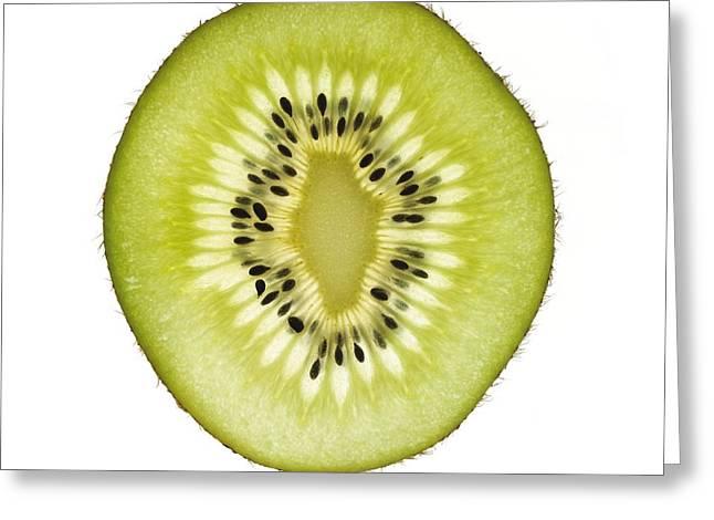 Kiwifruit Greeting Cards - Kiwi Slice Greeting Card by Mark Sykes