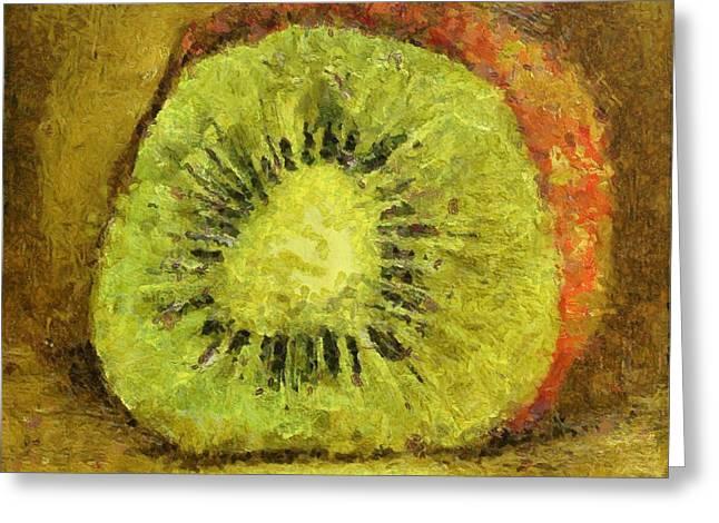 Kiwifruit Greeting Cards - Kiwifruit Greeting Card by Dragica  Micki Fortuna