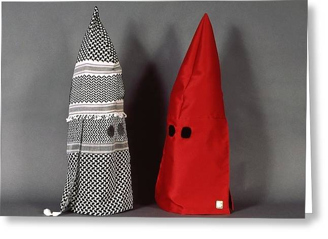 Kkk Greeting Cards - KKK hoods Islam and the Church Greeting Card by David  Beers