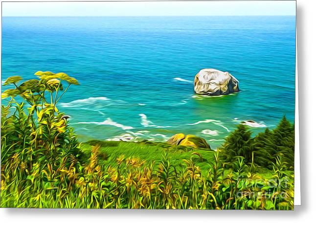 Gregory Dyer Greeting Cards - Klamath Coast Lookout - 02 Greeting Card by Gregory Dyer