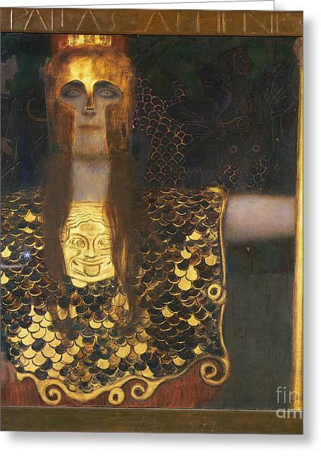 1898 Greeting Cards - Klimt - Pallas Athena 1898 Greeting Card by Granger