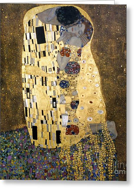 1907 Greeting Cards - Klimt: The Kiss, 1907-08 Greeting Card by Granger